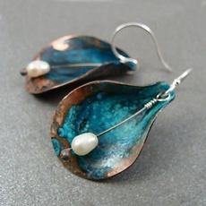 Sterling, Silver Jewelry, vintage earrings, hookearring