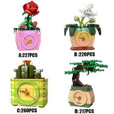 Toy, rosebricksblock, buildingblock, Clock