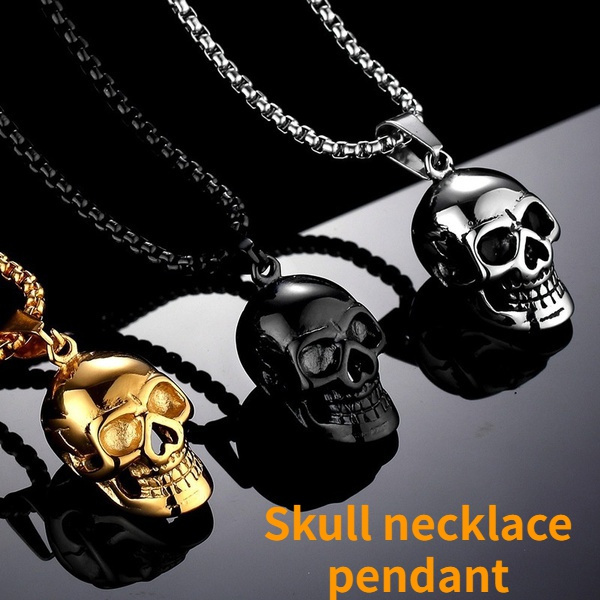 Fashion, punk necklace, Stainless Steel, Halloween