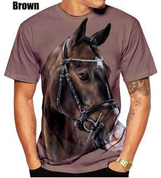 Summer, horse, Funny T Shirt, 3dmentshirt