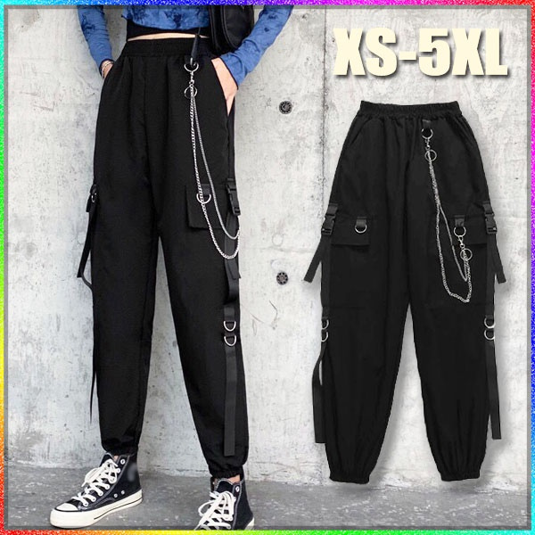 Polyester, Plus Size, Chain, pants