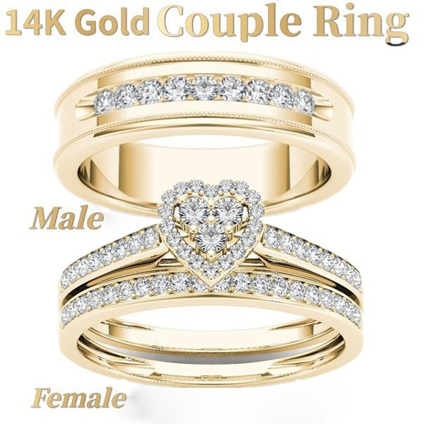 Heart, Plus Size, wedding ring, gold