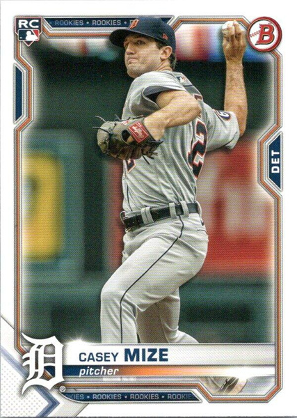 casey, Detroit Tigers, 2021baseballcard, bowman