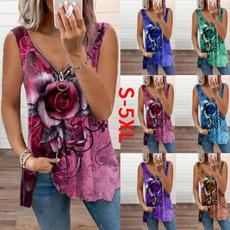 Summer, Vest, Fashion, Plus size top