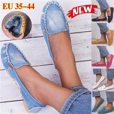 Chaussures, Flats, Fashion, Denim
