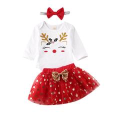 Baby Girl, babygirlchristmasclothe, xmaspartyoutfit, tutuskirt
