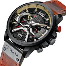 watchformen, Fashion, chronographwatch, leather strap