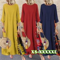 Women, fashion women, Plus Size, neck dress