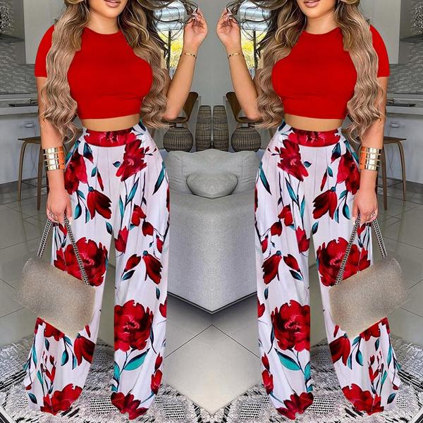 Summer, Fashion, crop top, pants