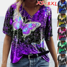 butterfly, Summer, Plus size top, womens top