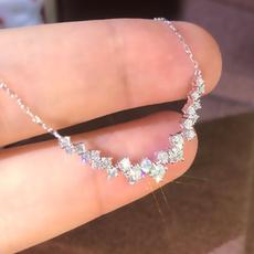 Sterling, 925 sterling silver necklace, bridalnecklace, DIAMOND