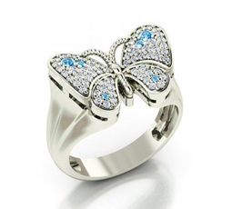butterfly, Sterling, Fashion, wedding ring