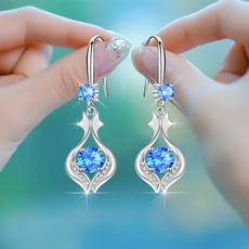 Sterling, DIAMOND, engagementearring, sterling silver