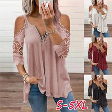 vnecktshirt, Summer, Fashion, Lace