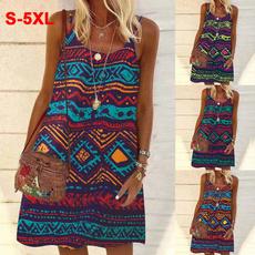 Summer, Plus Size, Vintage, Dress