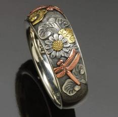 Sterling, dragon fly, uniquecreativity, wedding ring