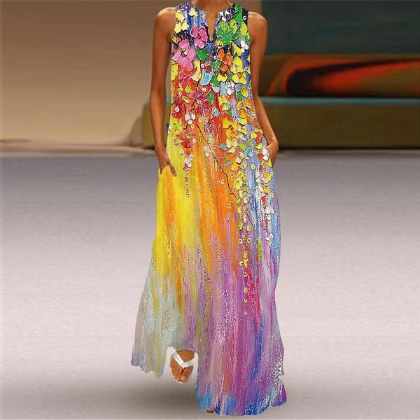 long dress, Vintage, Dress, Women's Fashion