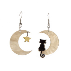 moonearring, Star, Jewelry, Kitty