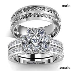 Sterling, Steel, DIAMOND, wedding ring