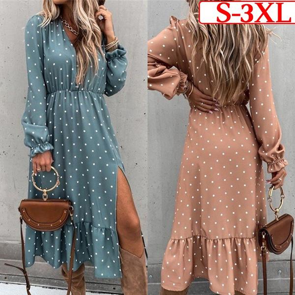 long skirt, Plus Size, long sleeve dress, #Summer #Fashion #Dress