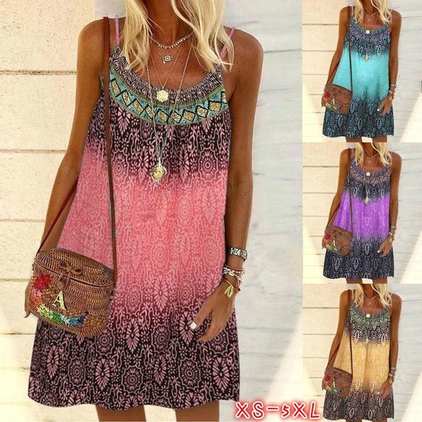 bohemia, Summer, Fashion, plus size dress
