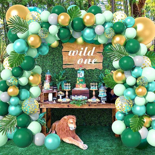Shower, kidsbirthdayballoon, junglesafari, Garland