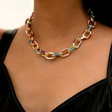 aluminumchain, Chain, thickchainnecklace, punk
