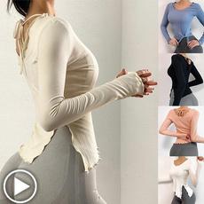 Fashion, womensporttop, Fitness, Long Sleeve