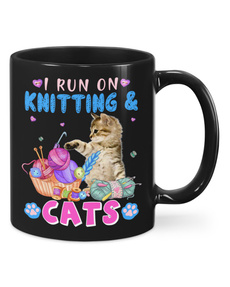 Knitting, Gifts, Cup, Porcelain