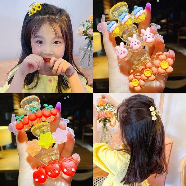 kids, cute, Flowers, Barrettes