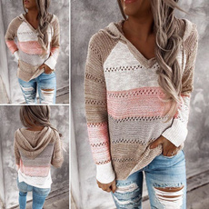 knitted, Plus Size, Sleeve, Long Sleeve