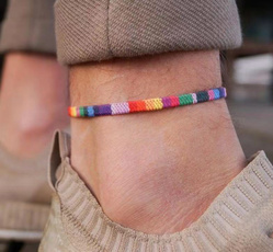 rainbow, Fashion, ankletsfootjewelry, Gifts