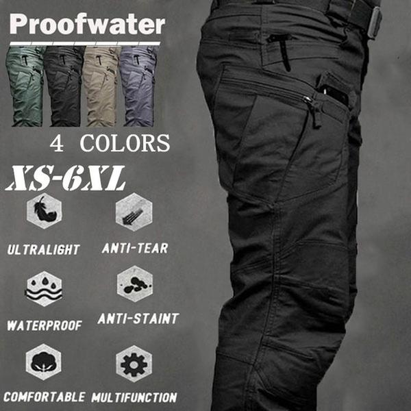 Army, Plus Size, Casual pants, Waterproof