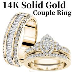 engagementringset, Couple Rings, DIAMOND, wedding ring