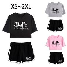 roupas femininas, Cotton, Shorts, crop top