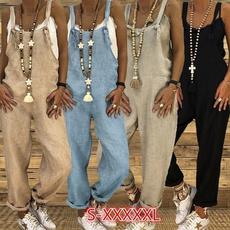 Summer, Women Rompers, Plus Size, linenjumpsuit