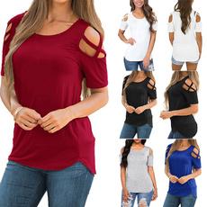 Summer, Plus size top, Cotton T Shirt, summer t-shirts