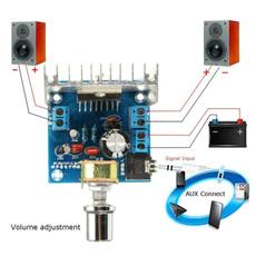 amplifierboard, Stereo, audioamplifier, tda7297amplifiermodule