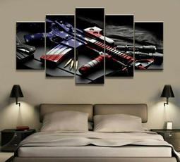 decoration, art, pistol, Wall Art