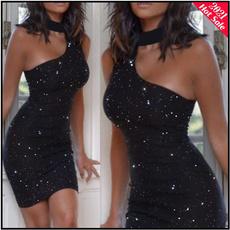 sleeveless, Plus Size, halter dress, Cocktail