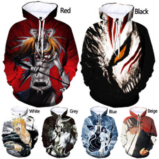 ichigokurosaki, 3D hoodies, Fashion, ichigo