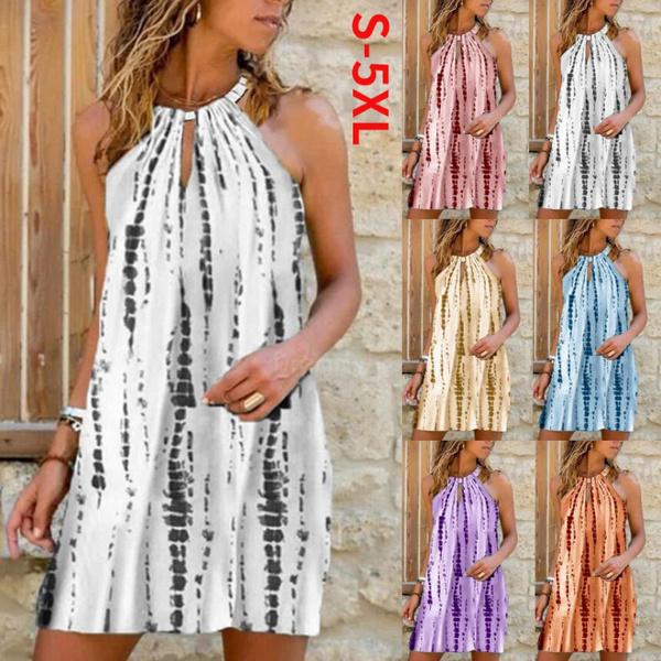 Summer, fashion women, printeddre, halter dress
