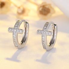Mens Earrings, Sterling, DIAMOND, Jewelry