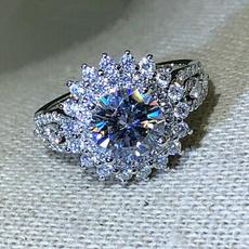 Sterling, Beautiful, DIAMOND, rhinestonering