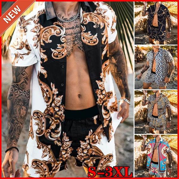 Fashion, Hawaiian, Sleeve, men clothing