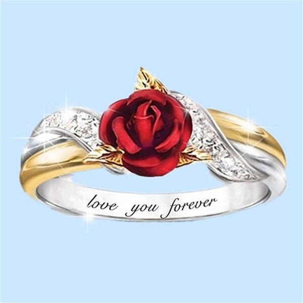 roseflowerring, Sterling, DIAMOND, Love