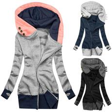 Jacket, hooded, Zip, Sleeve