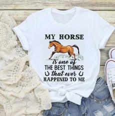 mensummertshirt, horse, Funny T Shirt, Love