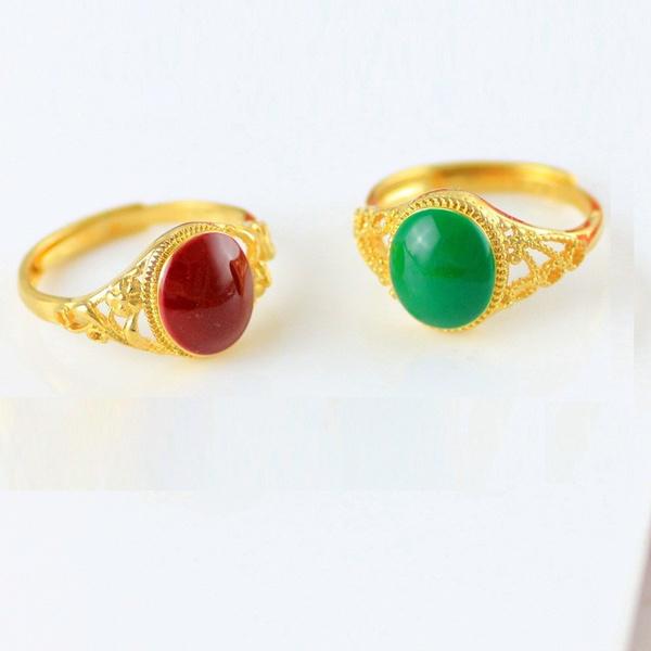 24kgoldring, Fashion, emeraldring, gold