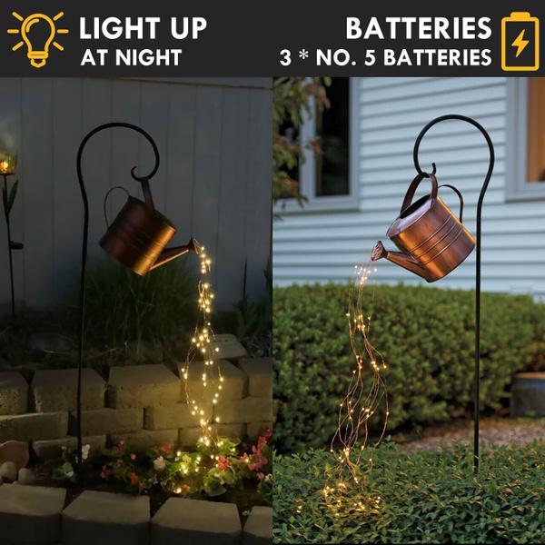 starshowerlight, solarwaterfalllightsoutdoor, led, Garden